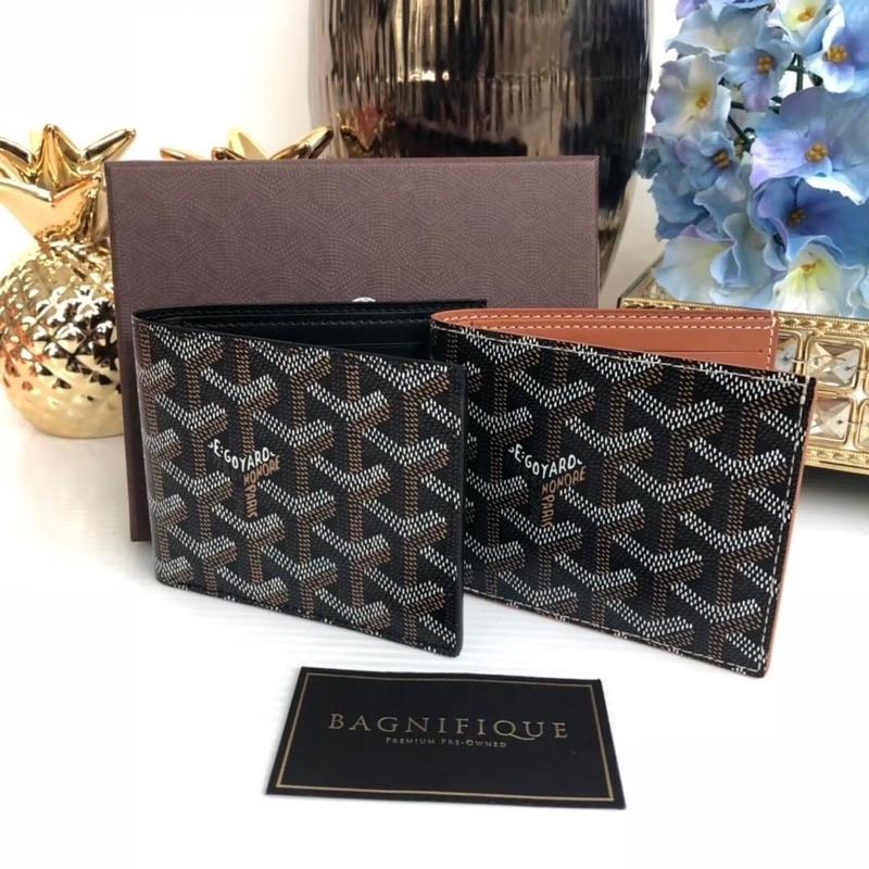 goyard wallet in black / brown