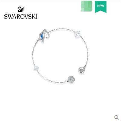[ผลิตภัณฑ์ใหม่] Swarovski DAZZING SWAN สร้อยข้อมือหงส์สีฟ้าแบรนด์ใหม่สี