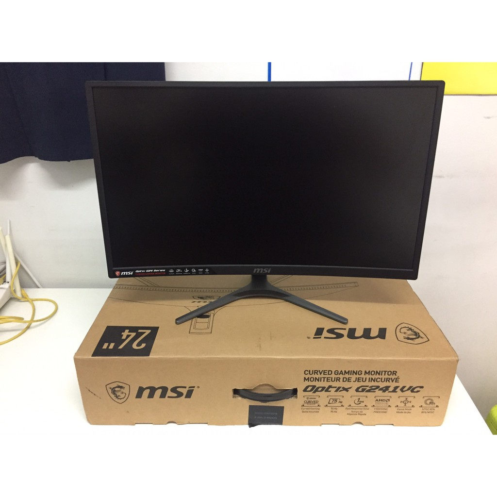 Monitor 23.6'' MSI Optix G241VC (VA, VGA, HDMI) CURVE FreeSync 75Hz (จอโค้ง)