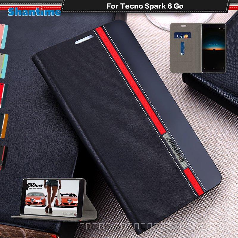 หรูหราPUหนังCaseสำหรับTecno Spark 6 Go FlipสำหรับTecno Spark 6 Goโทรศัพท์กรณีSoft TPUซิลิโคนปกหลัง RJgc