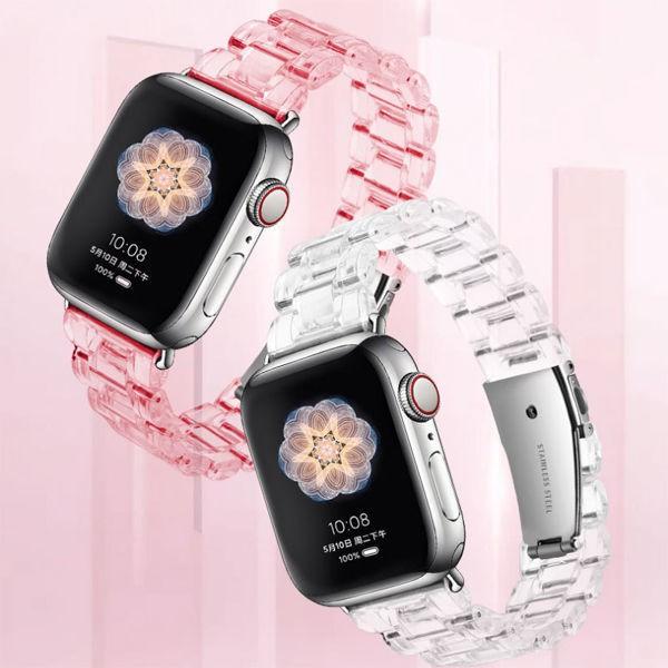 สายนาฬิกาข้อมือแบบใสสําหรับ Applewatch 5