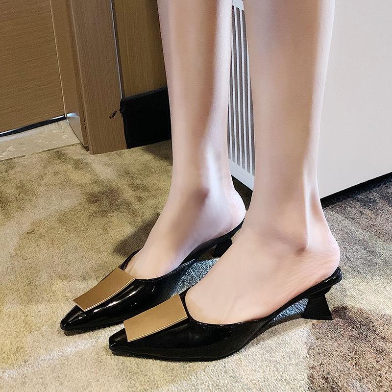 รองเท้าคัชชูผู้หญิง🍍รองเท้า แฟชั่น🍍รองเท้าคัชชู หัวแหลม รองเท้าเปิดส้น พื้นนุ่มหนังนิ่ม รองเท้าคัชชูหัวแหลมหนังนิ่ม