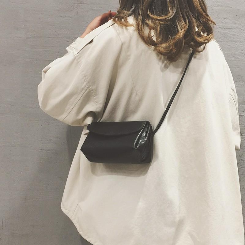 ﹠ガ กระเป๋ากระเป๋าเดินทาง กระเป๋าใส่โทรศัพท์มือถือ2021ใหม่อินเทรนด์มินิกระเป๋าใบเล็กผู้หญิงหนังแท้เรียบง่ายกระเป๋าสี่เหลี