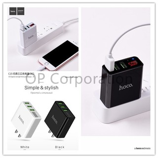 Image # 3 of Review HOCO C15 Adapter 3 Port 3.0A With LED Display, หัวชาร์จพร้อมหน้าจอบอกความเร็ว แท้ 100%