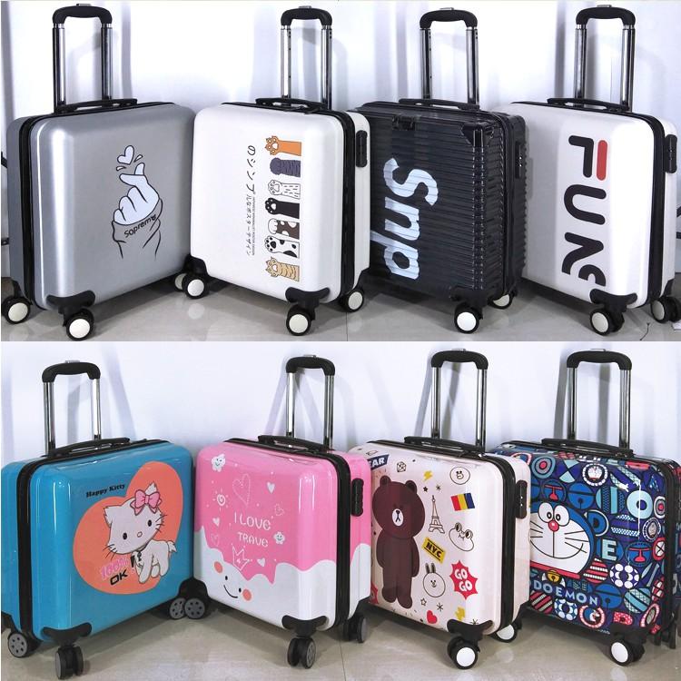 [กระเป๋าเดินทาง] กระเป๋าเดินทางขนาดเล็ก กระเป๋าเดินทางขนาดเล็กน้ำหนักเบาและขนาดเล็ก กระเป๋าเดินทางรหัสผ่านหญิง 20 ใบ ชาย