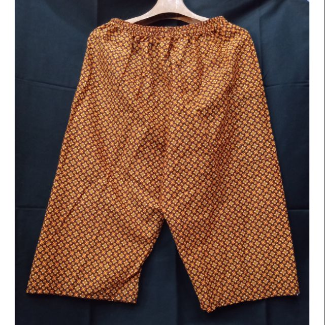 กางเกงลายไทย กางเกงผ้าถุง กางเกงเอวยางยืด คนแก่ กางเกงผ้าคอตตอน