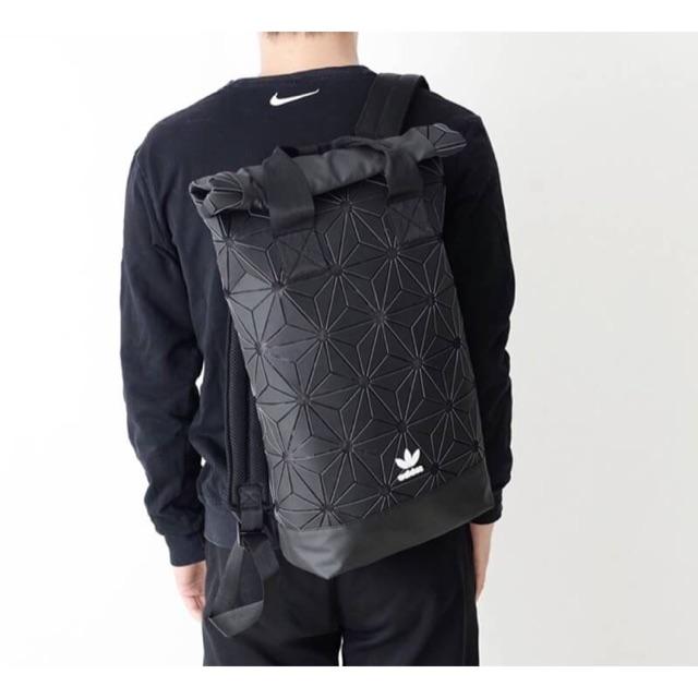! Adidas 3D Roll Top Backpack Y2018 (รุ่นหูคู่) กระเป๋าเป้ Unisex ดีไซน์สุดฮิตสไตล์ ISSEY MIYAKE