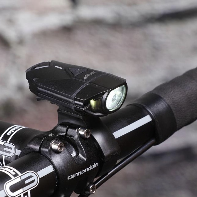 Infini Super Lava USB Rechargeable Headlight with Helmet mount Black by Infini