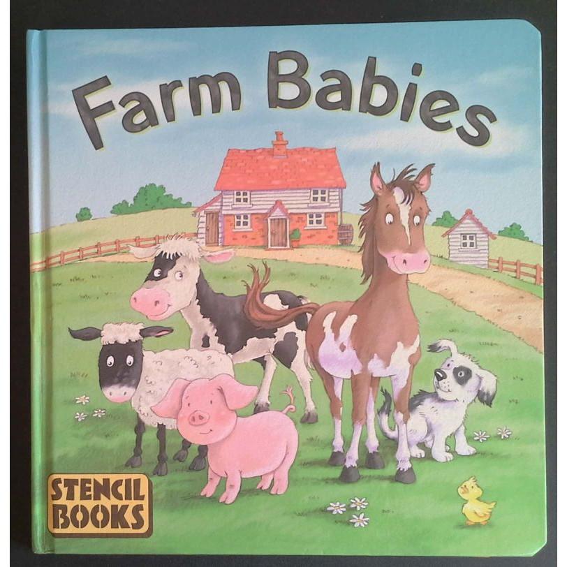 Farm Babies Stencil books