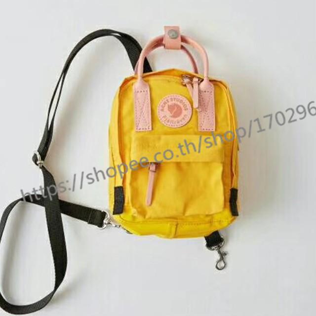 ของ 100% สีเหลือง  fjallraven kanken mini sling bag กระเป๋าสลิง yellow fjallraven สลิง กระเป๋าสะพายผญ
