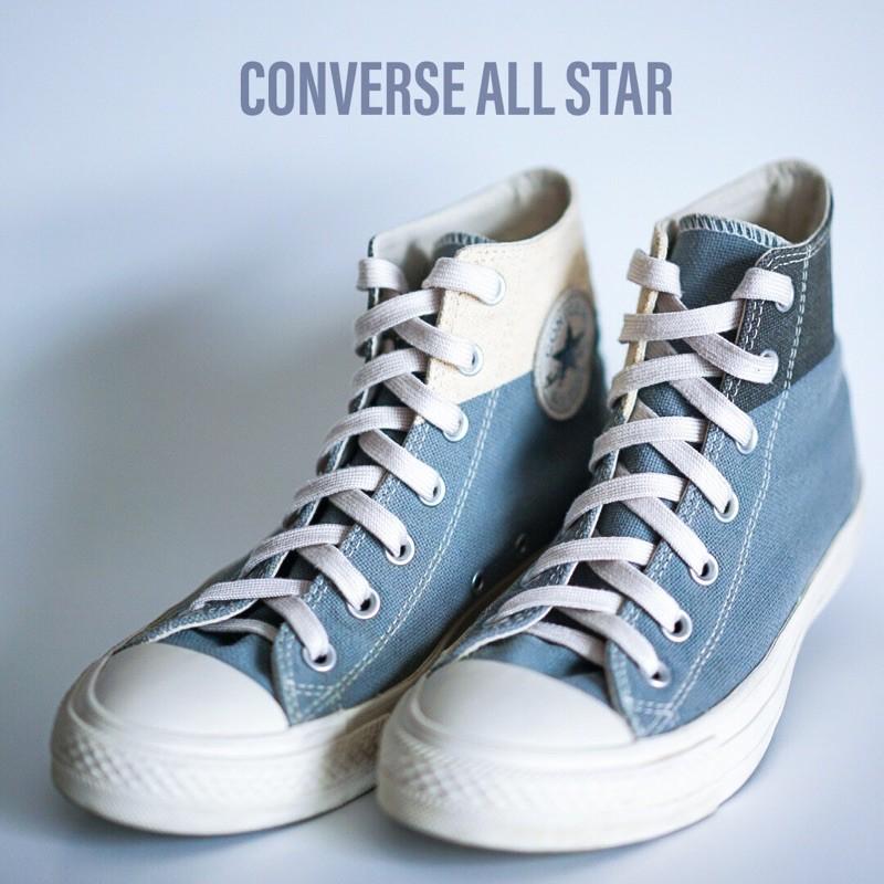 รองเท้า คอนเวิร์ส Converse All Star Hi Grey มือสอง สีเทา ขาว รองเท้าหุ้มข้อ ของแท้
