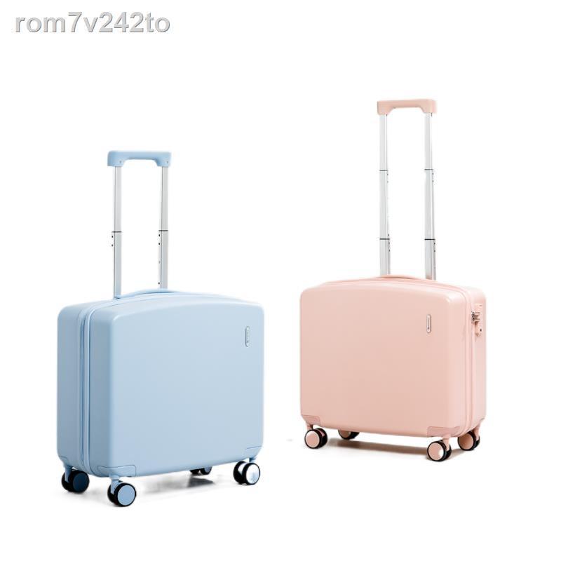❡☃♣กระเป๋าเดินทางขนาดเล็กน้ำหนักเบา 18 นิ้วหญิง 16 กระเป๋าเดินทางรถเข็น 20 มินิกระเป๋าเดินทางขนาดเล็กน่ารักเครื่องบินสา