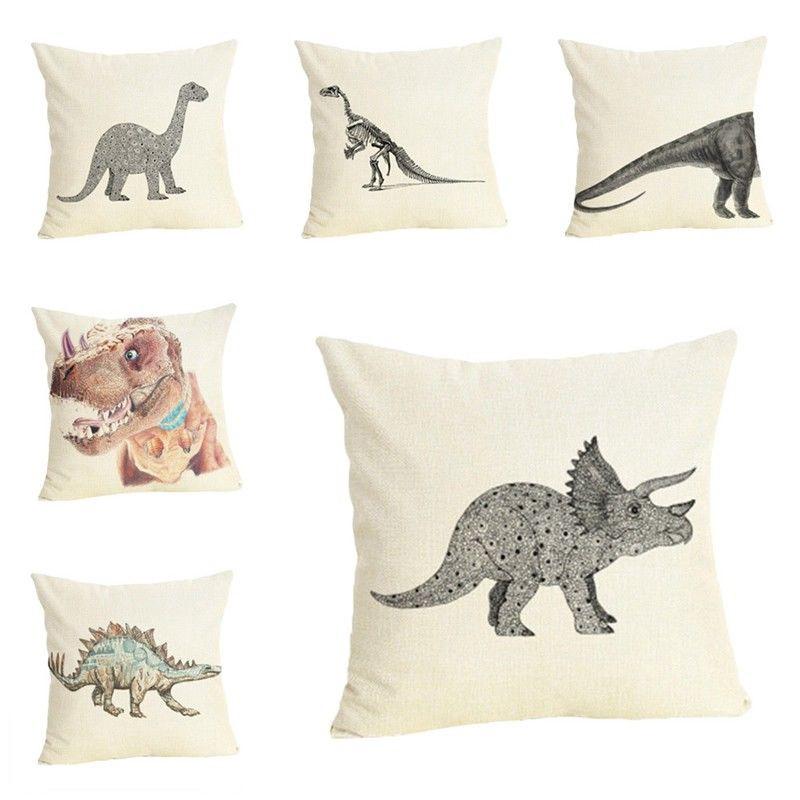 "Purple//White Dandelion cotton decorative throw pillow cover//cushion cover 18x18/"""