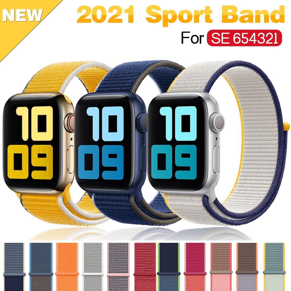 สายนาฬิกาข้อมือไนล่อนสําหรับ Apple Watch Band Se 6/5 44มม. 40มม. 42มม. 38มม. Iwatch Series 4 3 2 1