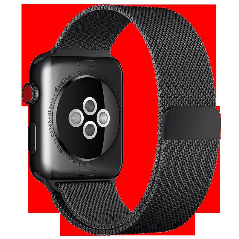 ゲ◈ยังสหรัฐอเมริกาบังคับ applewatch สาย iwatch5รุ่นสแตนเลสเด็กชายและเด็กหญิงกีฬาสากล S3/2รุ่น1iPhone Series 3/2นิ้วน้ำขึ้