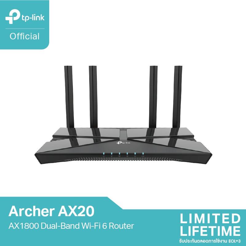 TP-Link Archer AX20 เราเตอร์ WiFi 6 Dual Band MIMO Access Point AX1800(ตัวขยายสัญญาณ)ให้สัญญาณไกลยิ่งขึ้น