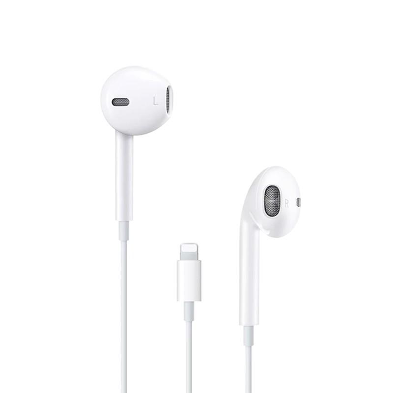 case เคสซิลิโคนชุดหูฟังของแท้แบบมีสายสำหรับ Apple 12iPhone / X 6s โทรศัพท์มือถือ 11ipad อินเอียร์ 7 8p xmax XR plus pro