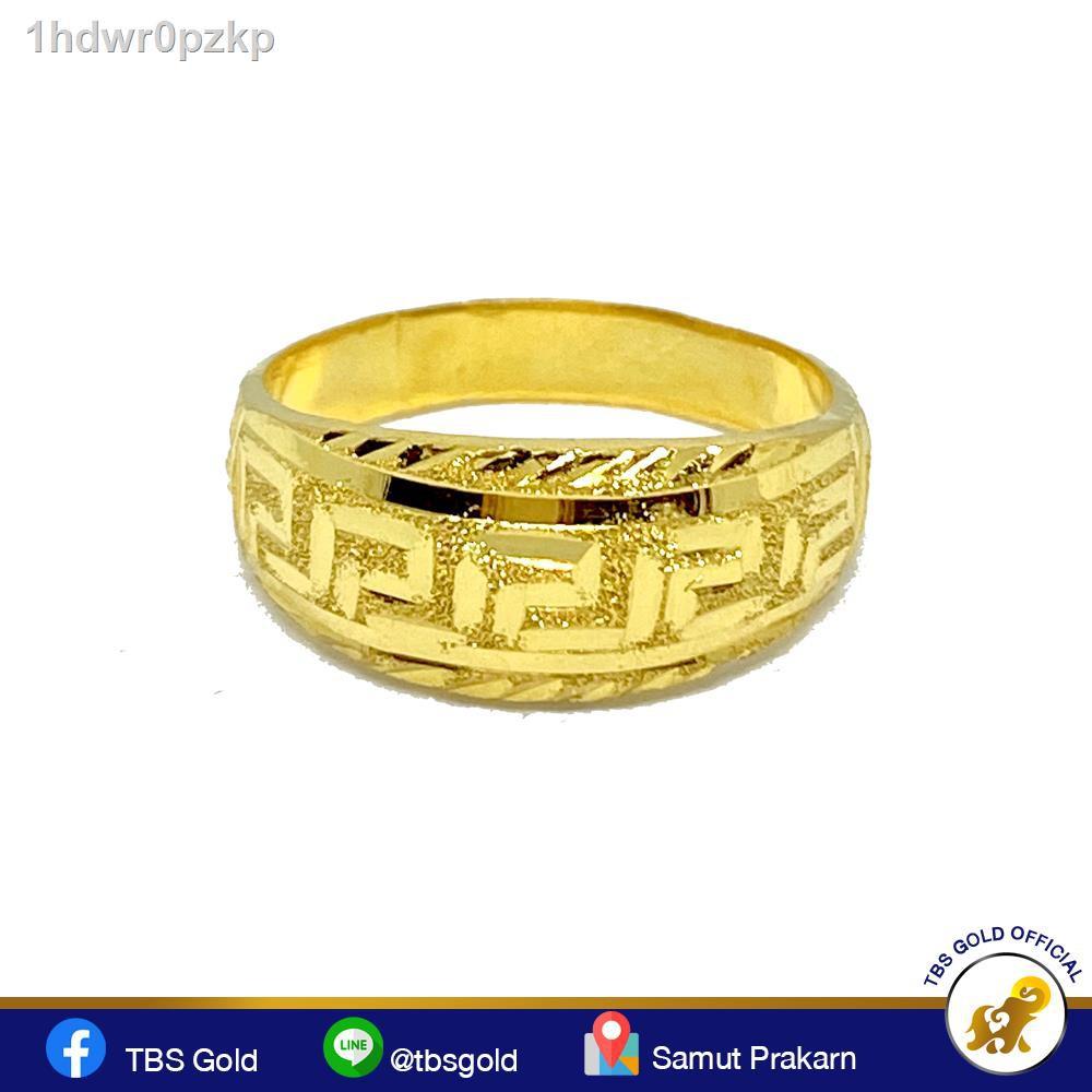 🔥มีของพร้อมส่ง🔥ลดราคา🔥▽☞TBS แหวนทองจตุรวัลย์ไป V.2 หนัก 1.9 กรัมแท้ 96.5% ขายได้ฟูได้มีใบยอม