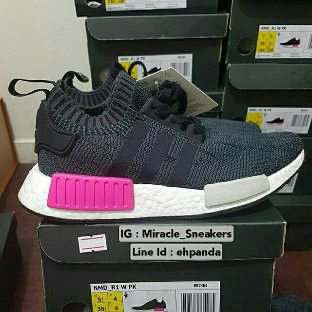 967722225 🤓Adidas originals nmd r1 w boost pink white women shoes sneakers ...