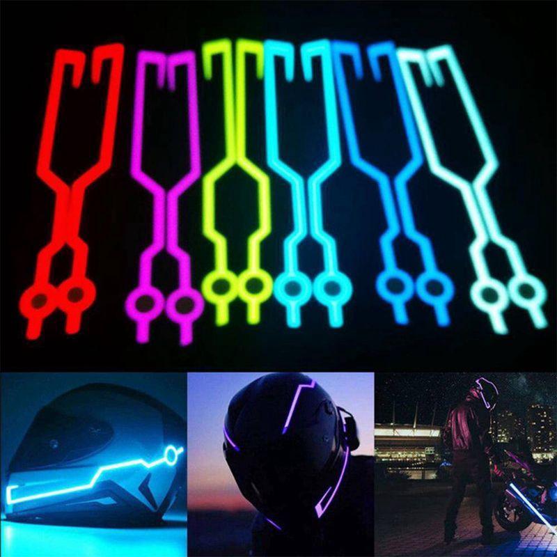 Youn * หมวกกันน็อคติดไฟ LED สำหรับขี่รถจักรยานยนต์