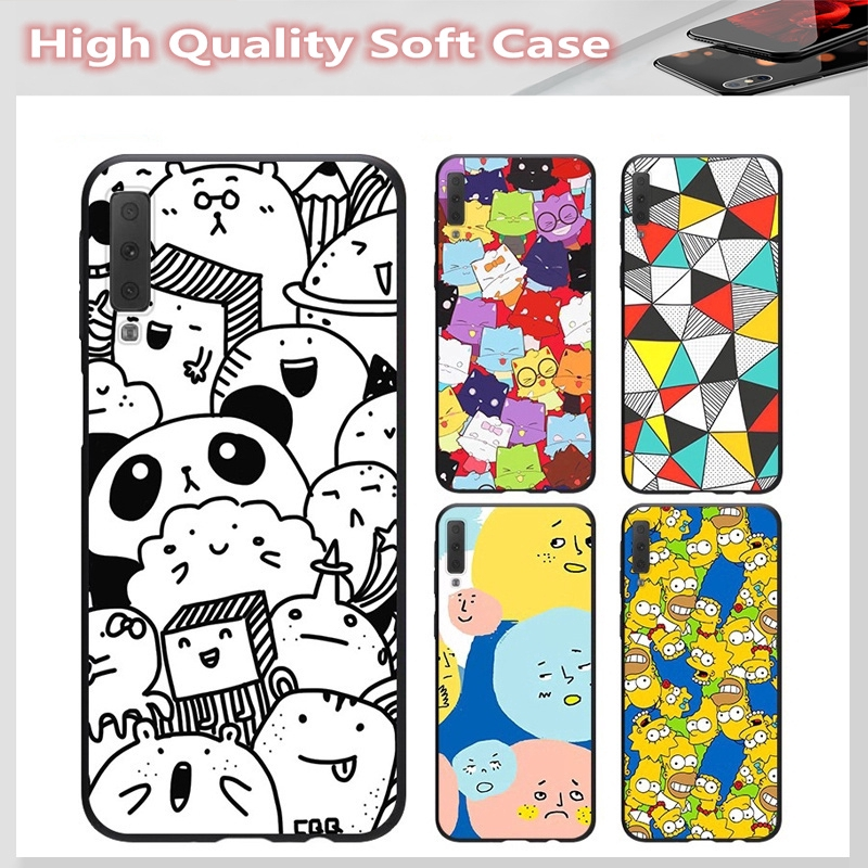 casing for SAMSUNG A2 CORE J7 Pro J7 PLUS A6 A6+ A7 A8 A8+ A8 Star A9 2018 Cover panda Soft Case