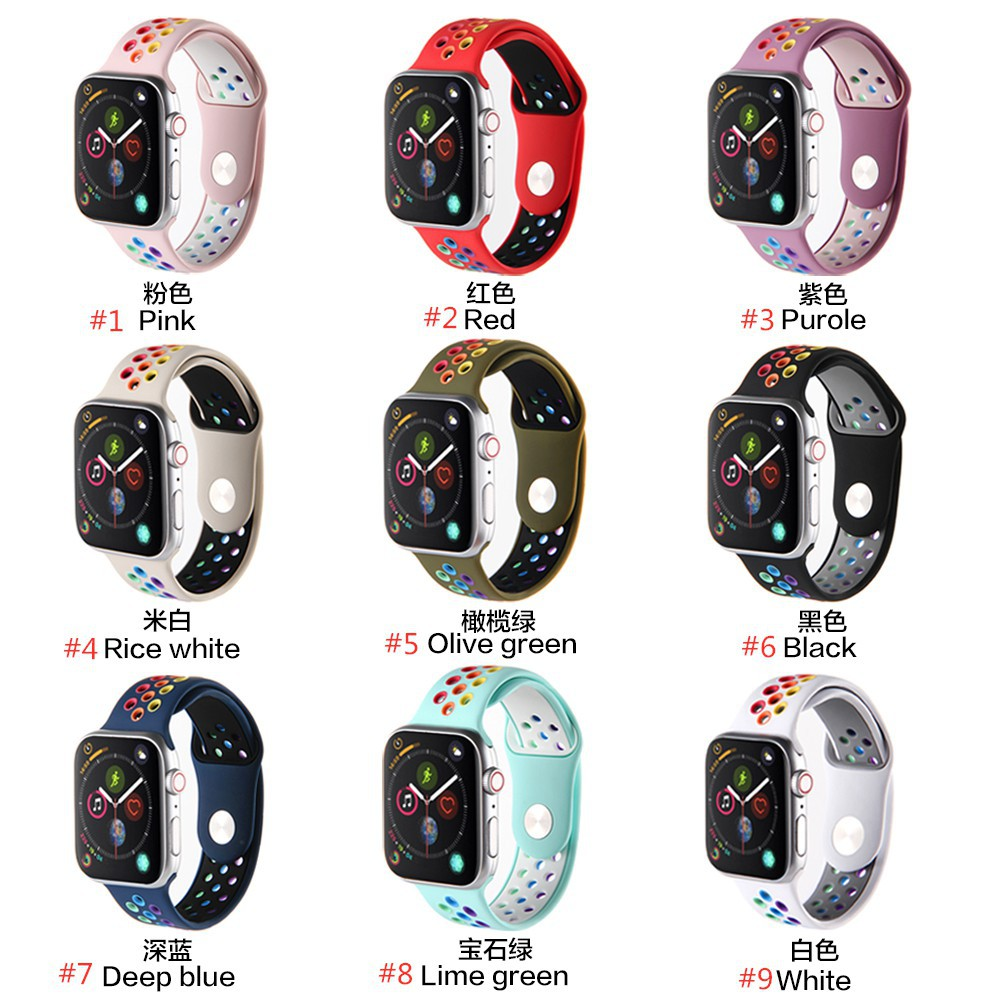 NIKE สายนาฬิกาข้อมือ Apple Watch Iwatch Series 5 4 3 2 1 2020