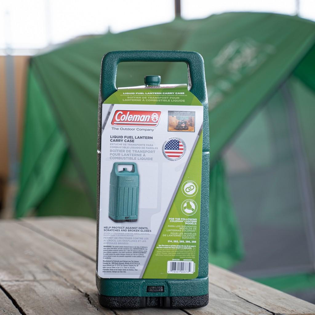 เคส กันกระแทก ตะเกียง เคสตะเกียง ยี่ห้อ โคลแมน Coleman สีเขียว Coleman Luquid Fuel Lantern Carry Case