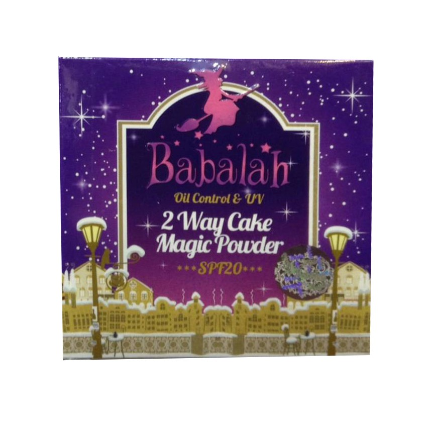 Babalah magic powder Oil Control & UV 2 Way Cake Magic Powder  #02 (1 ตลับ)