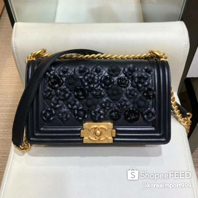 Chanel Le Boy Bag With Gold Hardware