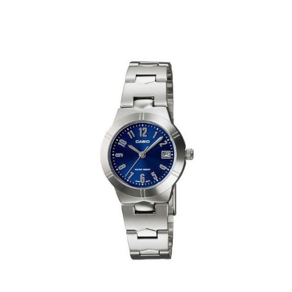 CASIO นาฬิกาข้อมือผู้หญิง GENERAL รุ่น LTP-1241D-2A2DF นาฬิกากันน้ำ สายสแตนเลส