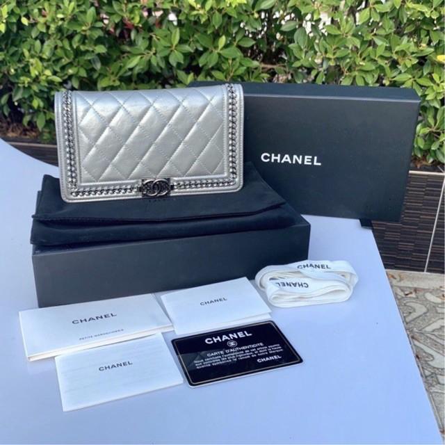 Chanel boy wallet แท้💯%