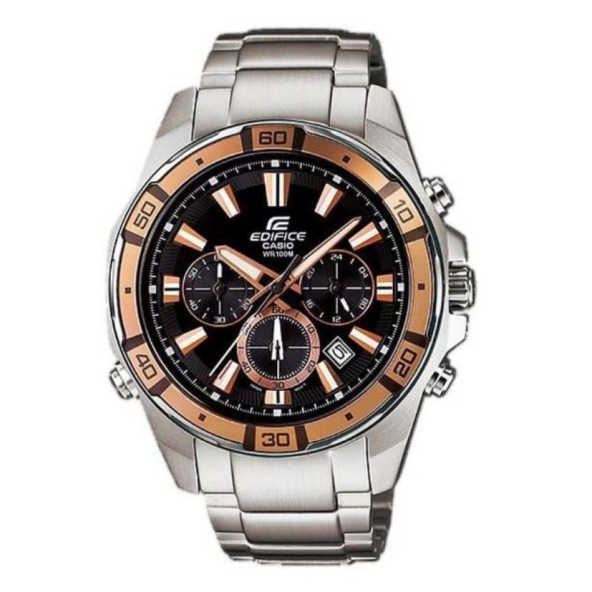 CASIO นาฬิกาผู้ชาย สายสแตนเลส EFR-534D-1A9VDF - Silver