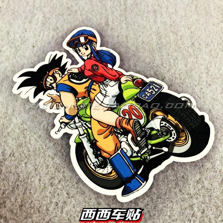 สติกเกอร์ลาย Dragonball Goku สําหรับตกแต่งรถ