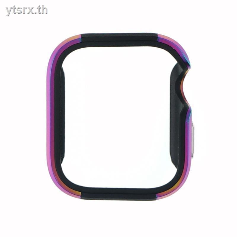 เคสพร้อมกระจกกันรอยคลุมรอบหน้าจอ Apple watchนาฬิกาข้อมือ Apple Watch Seriesเคส Apple Watch CaseApple watch iwatch5 protective case 40mm44mm4/5th generation aluminum alloy metal