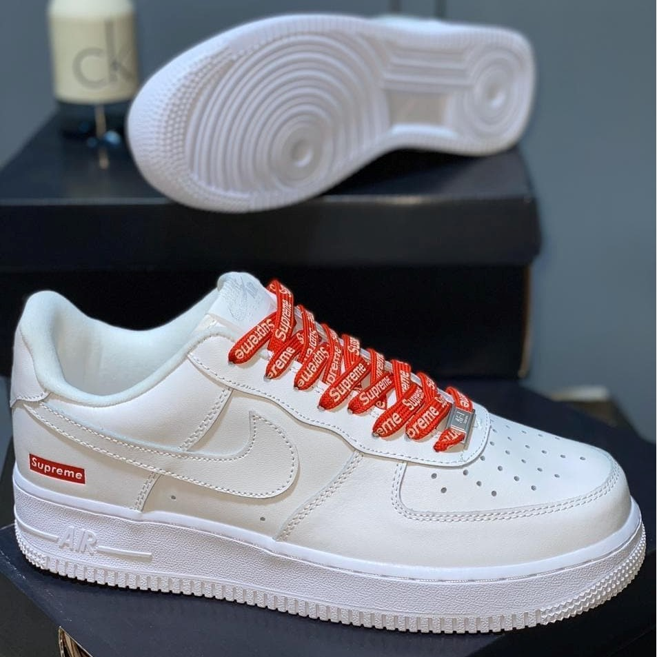 [PK_God] รองเท้าNike Air Force 1 x Supreme White Size 36 - 4