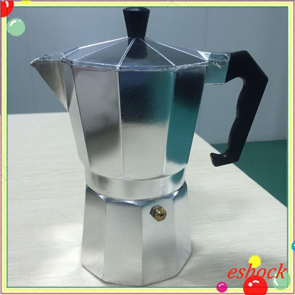 ◎◈Ek Moka หม้อกาแฟเอสเพรสโซ่หม้ออลูมิเนียมทนทานเครื่องทำเอสเปรสโซ