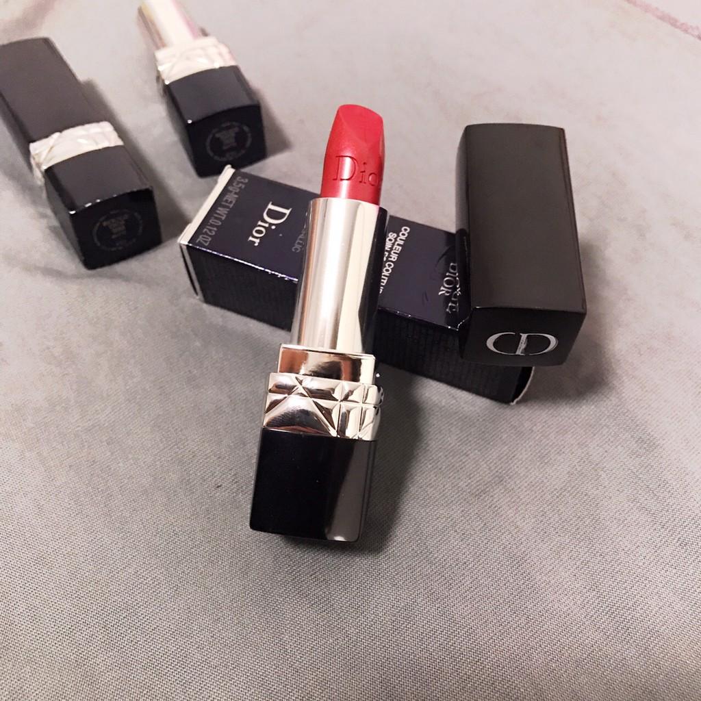 #dior เครื่องสำอาง # Counter แท้ Dior Dior lipstick 999 matte moisturizing หลอดแดงของแท้แบรนด์ใหญ่
