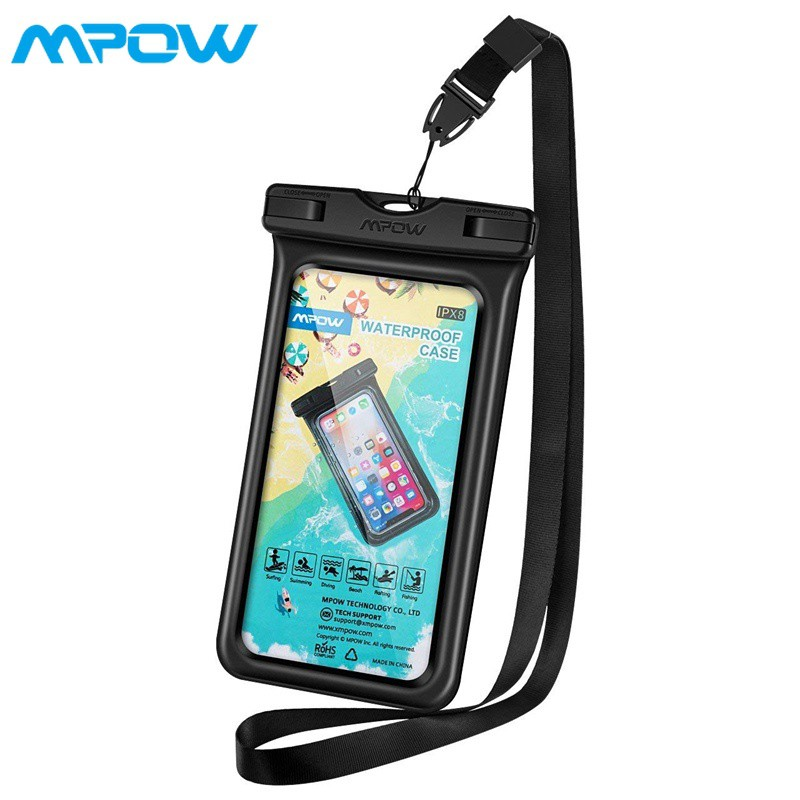 wholesale dealer 30aab 4dc1a Mpow Floating Waterproof Phone Pouch iPhone X/8/Galaxy/Google Pixe Black