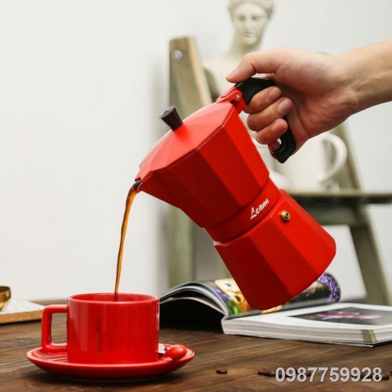 ✑❏✲> เครื่องชงกาแฟ Moka pot ทำกาแฟ เครื่องชงกาแฟเอสเพรสโซขนาดเล็กของใช้ในครัวเรือนอิตาลี