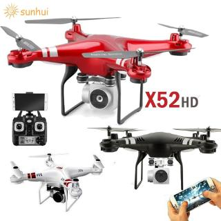 Review [ bayar Di Tempat ] โดรน X 52hd Drone RC Aircraft WiFi 4-Axis kamera HD transmisi Real