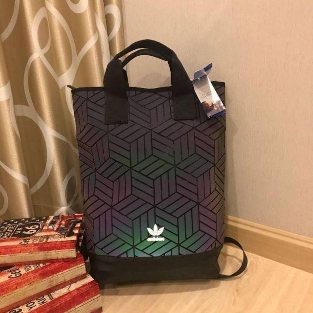 《 Adidas 》 Originals geometric 3D roll top backpack  กระเป๋าสะพาย กระเป๋าแบรนด์เนม แบรนด์เนม