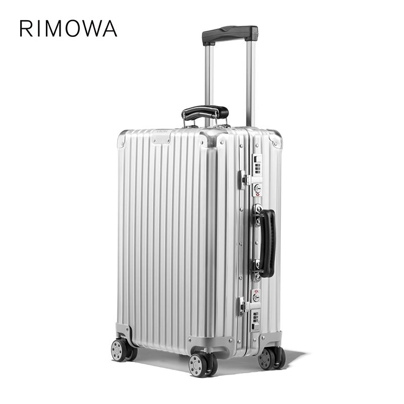 ◎ウRimowa/rimiwa classic20นิ้วคลาสสิกโลหะรถเข็นกระเป๋าเดินทางกระเป๋าเดินทาง