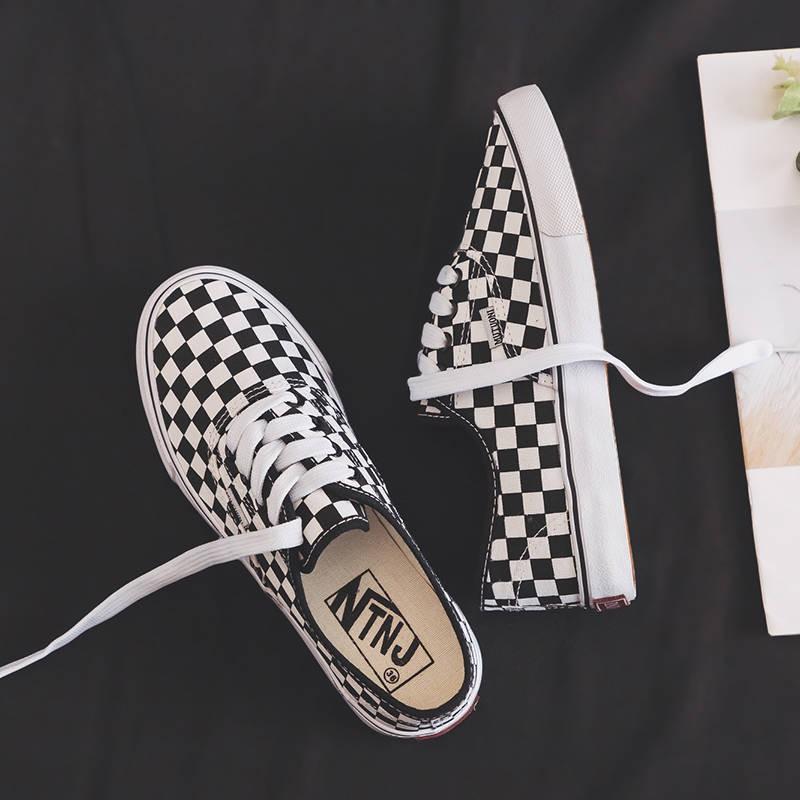 รองเท้าคัชชู ร้องเท้า รองเท้าผู้หญิง ✼รองเท้าผ้าใบนักเรียนหญิงเวอร์ชั่นเกาหลีของพาราไดซ์ Ulzzang สีดำและสีขาว Gant พอร์ต