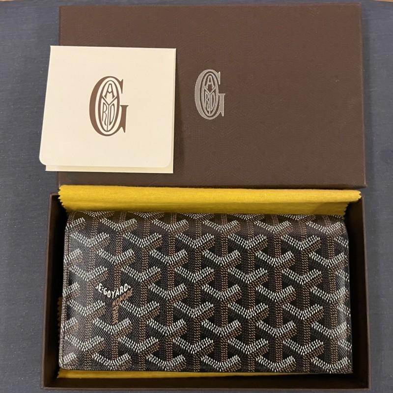 Used!!!มือ2 Goyard long wallet Black Color ของหายาก