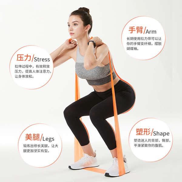 ยางยืดรัด การฝึกฟื้นฟูกำลังขาให้แข็งแรงห่วงยางรัดยางเส้นเล็กวงต้านทาน อุปกรณ์ออกกำลังกายที่บ้าน