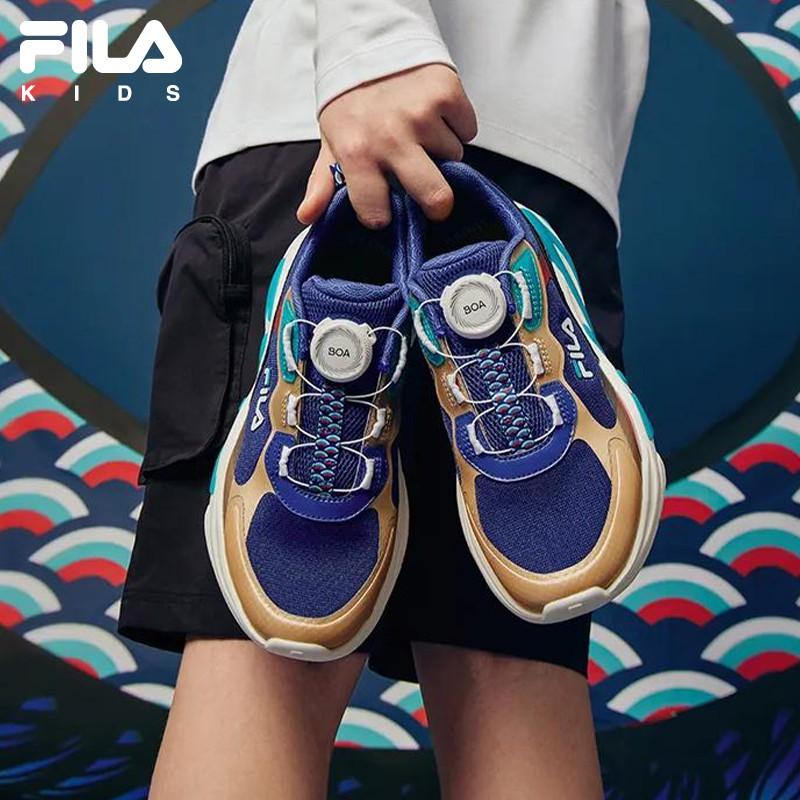 【เทศกาลเรือมังกรของขวัญรุ่น】FILAรองเท้าเด็กรองเท้าวิ่งย้อนยุค2021เด็กฤดูร้อนชายและหญิงBOAรองเท้ากีฬา 0lEe