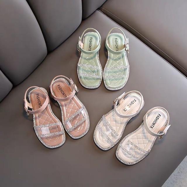 รองเท้าเด็ก คัชชูรัดส้น สีมิ้น , สีชมพู , สีขาว