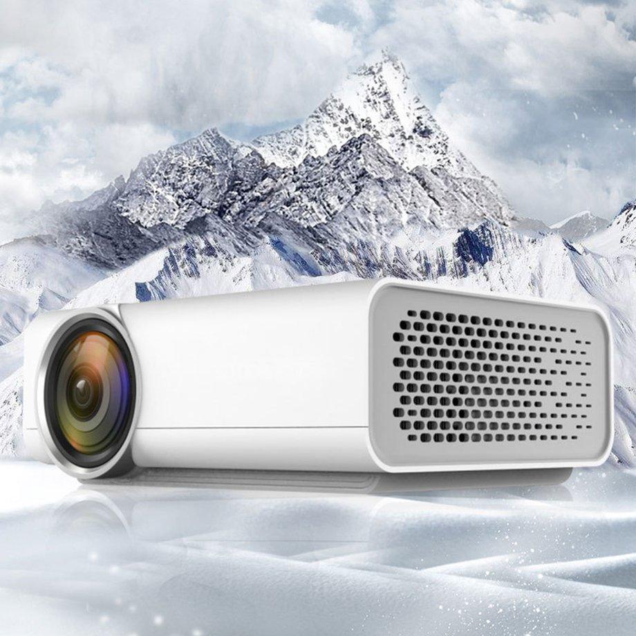 ★★★ ส่งฟรี โปรเจคเตอร์ YG 520 Home LED Projector Mini Portable 1080 P HD สำหรับบ้าน มีรีวิว โปรเจคเตอร์ ดีขนาดเล็กเพื่อพกพา   ประกัน 1 ปี