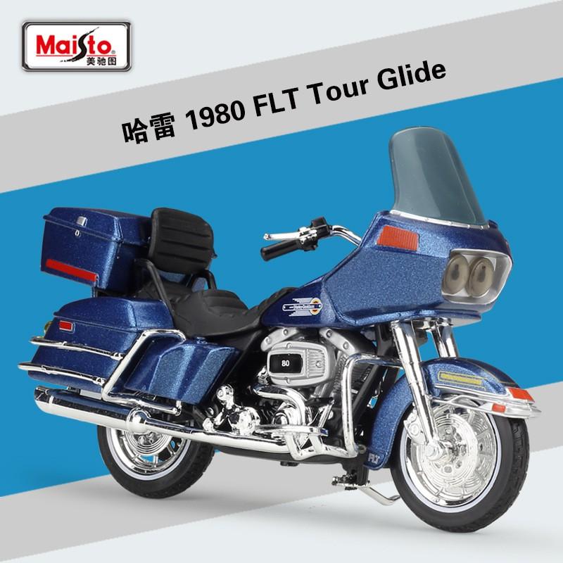 1 : 18 1980 Flt Tour Glide ของเล่นโมเดลรถยนต์ Harley Figure
