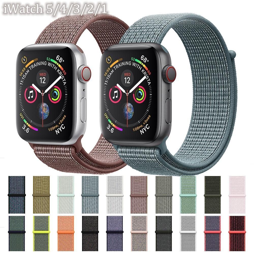 สายนาฬิกาข้อมือไนล่อนสําหรับ Apple Watch Band 44 มม . 40 มม . 38 มม . 42 มม . Iwatch Band Series 5 4 3 2 1
